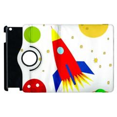 Transparent spaceship Apple iPad 3/4 Flip 360 Case