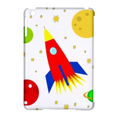 Transparent spaceship Apple iPad Mini Hardshell Case (Compatible with Smart Cover)
