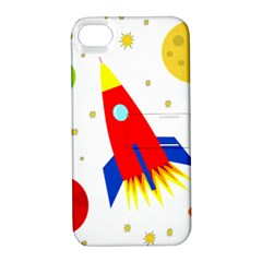 Transparent spaceship Apple iPhone 4/4S Hardshell Case with Stand