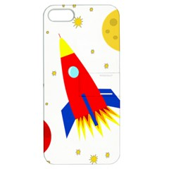 Transparent spaceship Apple iPhone 5 Hardshell Case with Stand
