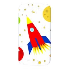 Transparent spaceship Samsung Note 2 N7100 Hardshell Back Case