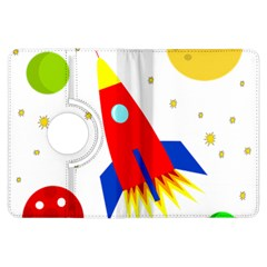 Transparent spaceship Kindle Fire HDX Flip 360 Case