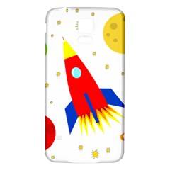 Transparent spaceship Samsung Galaxy S5 Back Case (White)