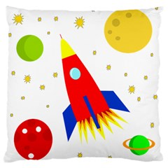 Transparent spaceship Standard Flano Cushion Case (Two Sides)