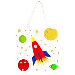 Transparent spaceship Grocery Light Tote Bag