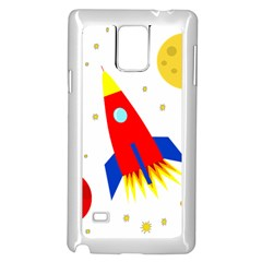 Transparent spaceship Samsung Galaxy Note 4 Case (White)