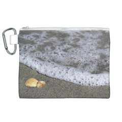Seashells in the waves Canvas Cosmetic Bag (XL)