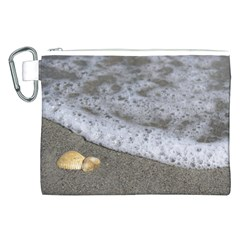 Seashells in the waves Canvas Cosmetic Bag (XXL)