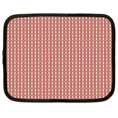 Mod Pink Green Pattern Netbook Case (XL)