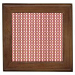 Mod Pink Green Pattern Framed Tiles