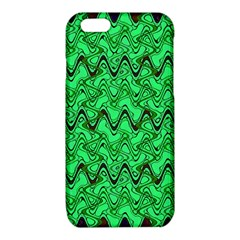 Green Wavy Squiggles iPhone 6/6S TPU Case