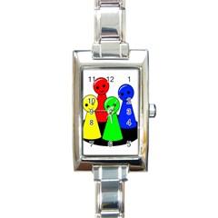 Don t get angry Rectangle Italian Charm Watch