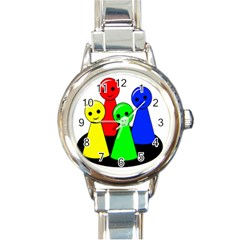Don t get angry Round Italian Charm Watch