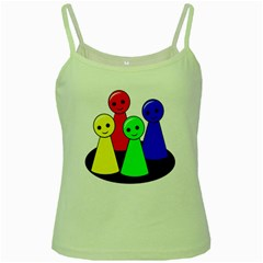 Don t get angry Green Spaghetti Tank