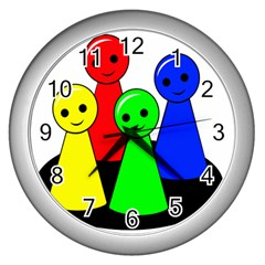 Don t get angry Wall Clocks (Silver)