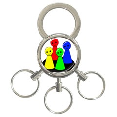 Don t get angry 3-Ring Key Chains