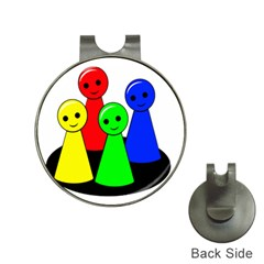 Don t get angry Hat Clips with Golf Markers