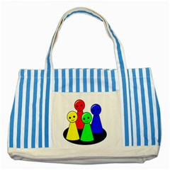 Don t get angry Striped Blue Tote Bag
