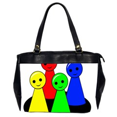 Don t get angry Office Handbags (2 Sides)
