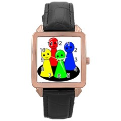 Don t get angry Rose Gold Leather Watch