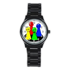 Don t get angry Stainless Steel Round Watch