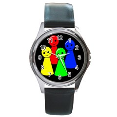 Don t get angry Round Metal Watch
