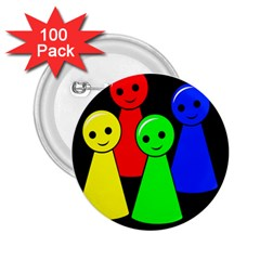 Don t get angry 2.25  Buttons (100 pack)