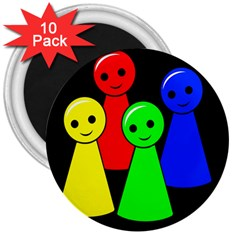 Don t get angry 3  Magnets (10 pack)