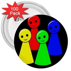 Don t get angry 3  Buttons (100 pack)
