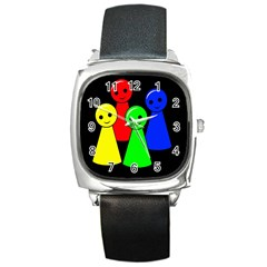 Don t get angry Square Metal Watch