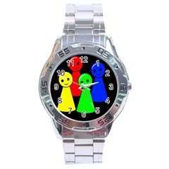 Don t get angry Stainless Steel Analogue Watch