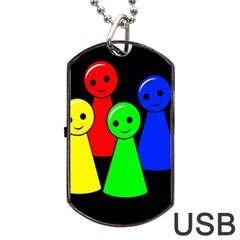 Don t get angry Dog Tag USB Flash (Two Sides)