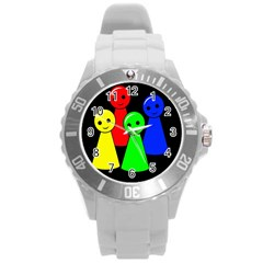 Don t get angry Round Plastic Sport Watch (L)