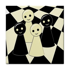 Chess Pieces Tile Coasters