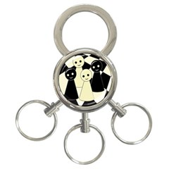 Chess pieces 3-Ring Key Chains