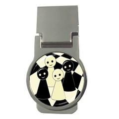 Chess pieces Money Clips (Round)