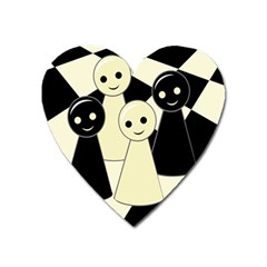 Chess pieces Heart Magnet