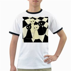 Chess pieces Ringer T-Shirts