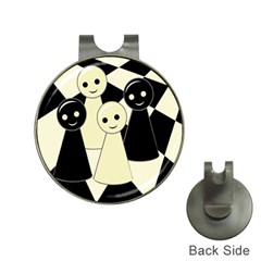 Chess pieces Hat Clips with Golf Markers