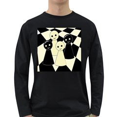 Chess pieces Long Sleeve Dark T-Shirts