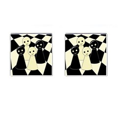 Chess pieces Cufflinks (Square)