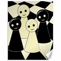 Chess pieces Canvas 12  x 16