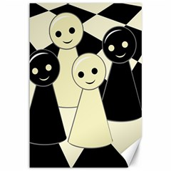 Chess pieces Canvas 12  x 18