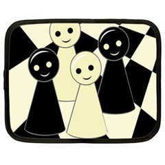 Chess pieces Netbook Case (Large)