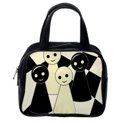 Chess pieces Classic Handbags (One Side)