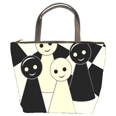 Chess pieces Bucket Bags