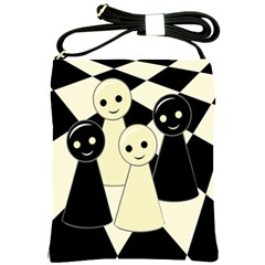 Chess pieces Shoulder Sling Bags