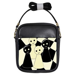 Chess pieces Girls Sling Bags