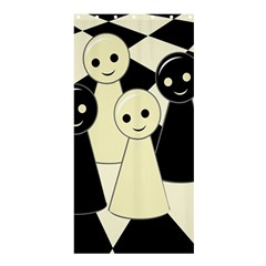 Chess pieces Shower Curtain 36  x 72  (Stall)