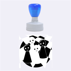 Chess pieces Rubber Round Stamps (Medium)